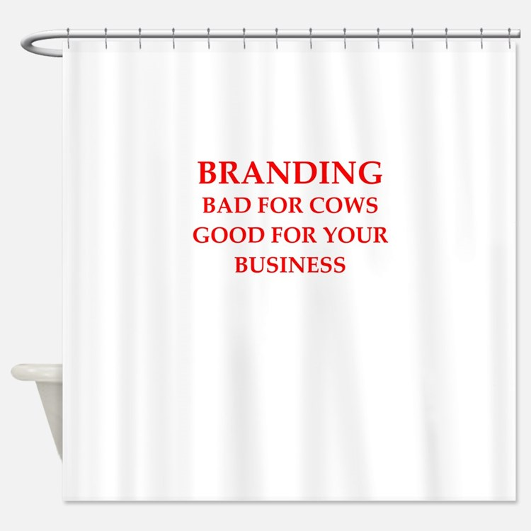 branding Shower Curtain
