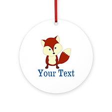 Personalizable Red Fox Ornament (Round)