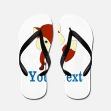 Personalizable Red Fox Flip Flops
