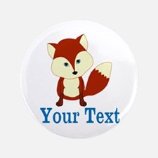 "Personalizable Red Fox 3.5"" Button"