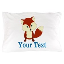 Personalizable Red Fox Pillow Case