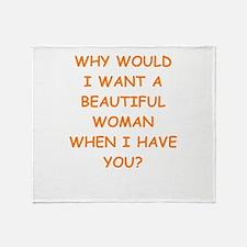 ugly joke Throw Blanket