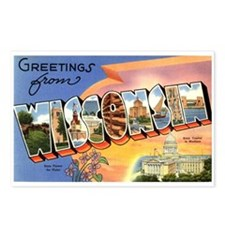 Greetings from Wisconsin Postcards (Package of 8)