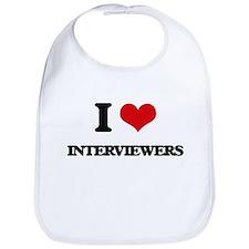 I Love Interviewers Bib