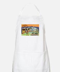 Greetings from Wyoming BBQ Apron