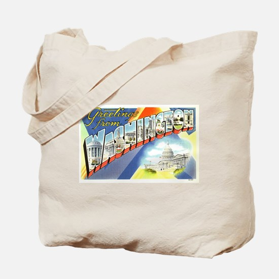 Greetings from Washington DC Tote Bag