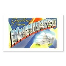 Greetings from Washington DC Rectangle Decal
