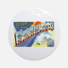 Greetings from Washington DC Ornament (Round)
