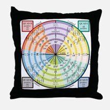 Math Unit Circle Throw Pillow