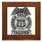 Georgia State Patrol Framed Tile