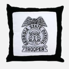 Georgia State Patrol Throw Pillow