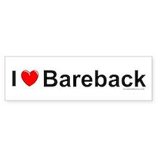 Bareback Bumper Sticker