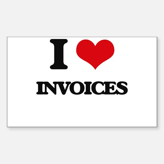 I Love Invoices Decal
