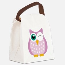winking owl  Canvas Lunch Bag