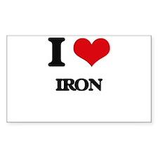 I Love Iron Decal