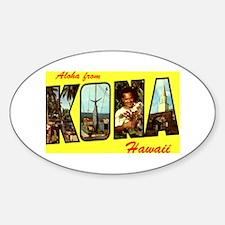 Aloha from Kona Oval Decal