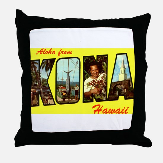 Aloha from Kona Throw Pillow