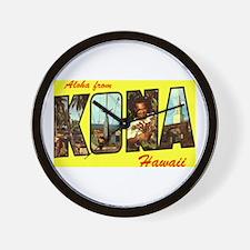 Aloha from Kona Wall Clock