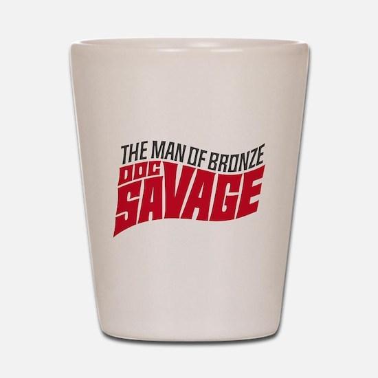 Doc Savage Shot Glass