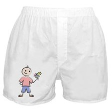 Boy with flowers Boxer Shorts