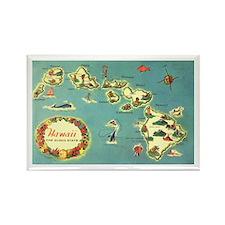Hawaiian Islands Rectangle Magnet (100 pack)