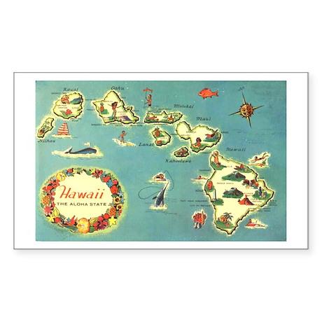 Hawaiian Islands Rectangle Sticker