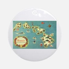 Hawaiian Islands Ornament (Round)
