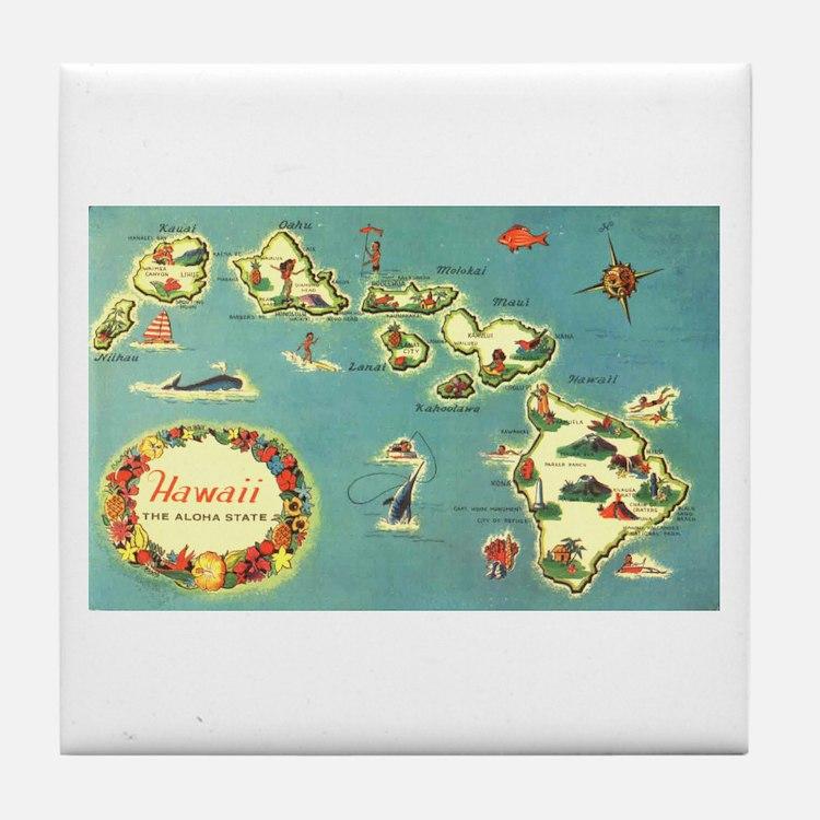 Hawaiian Islands Tile Coaster