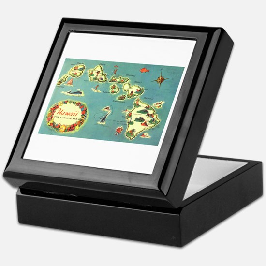 Hawaiian Islands Keepsake Box