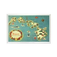 Hawaiian Islands Rectangle Magnet