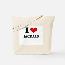 I Love Jackals Tote Bag
