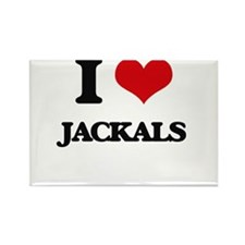 I Love Jackals Magnets