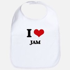 I Love Jam Bib