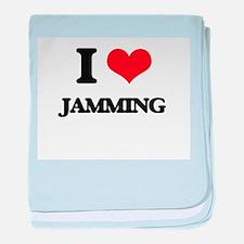 I Love Jamming baby blanket