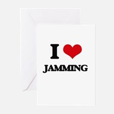 I Love Jamming Greeting Cards