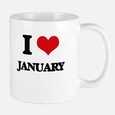 I Love January Mugs