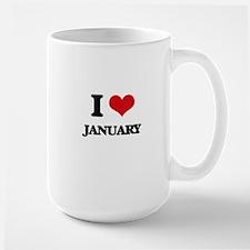 I Love January Mugs