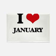 I Love January Magnets