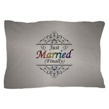 Just Married (Finally) Lesbian Pride Pillow Case
