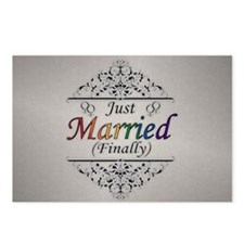 Just Married (Finally) Le Postcards (Package of 8)
