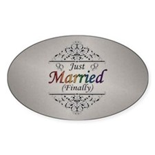 Just Married (Finally) Lesbian Prid Decal