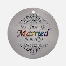 Just Married (Finally) Design Round Ornament