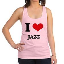 I Love Jazz Racerback Tank Top