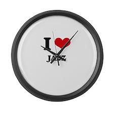 I Love Jazz Large Wall Clock