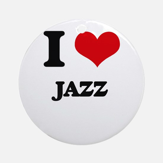 I Love Jazz Ornament (Round)
