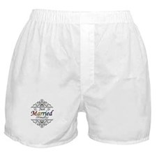 Just Married (Finally) Lesbian Pride Boxer Shorts