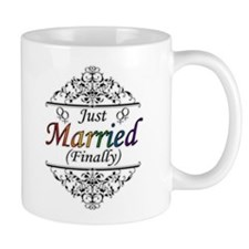 Just Married (Finally) Lesbian Pride Mugs