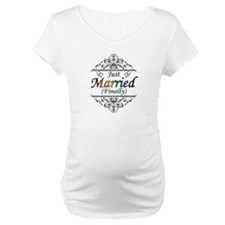 Just Married (Finally) Lesbian Pride Shirt