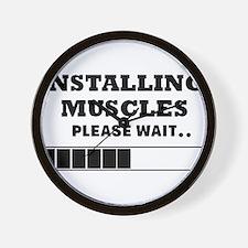 Installing Muscles - Loading Bar Wall Clock