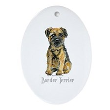 Border Terrier Oval Ornament